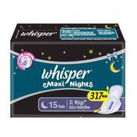 WHISPER MAXI NIGHTS SANITARY NAPKIN (15 PADS)