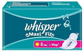 WHISPER MAXI FIT SANITARY NAPKIN (8 PADS)
