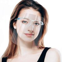 Face Shield Glass Type-Smart Protective Safety With Frame(1Pc)